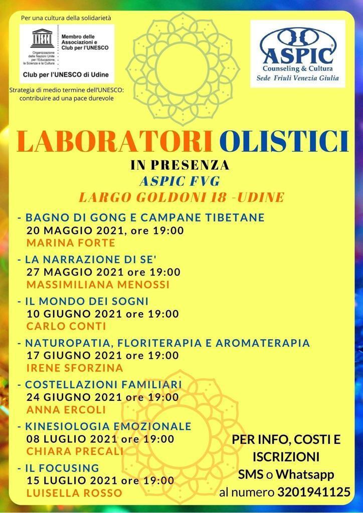 Laboratori Olistici: Calendario